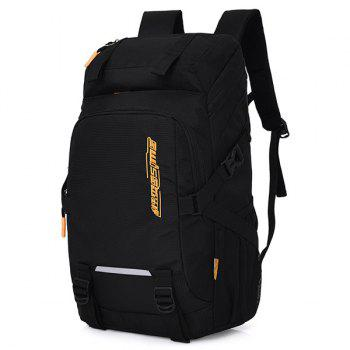 Multifunctional Outdoor Nylon Backpack -  BLACK