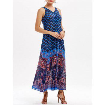Paisley V Neck Maxi Dress