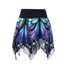 Butterfly Print Handkerchief Skirt