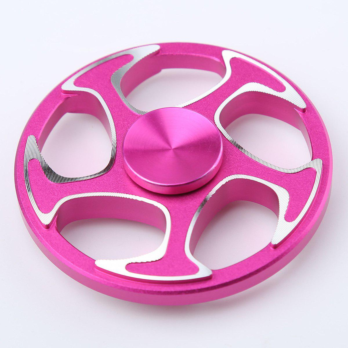 Wheel Aluminium Alloy Finger Gyro Hand Spinner - ROSE MADDER 6.3*6.3*1.5CM