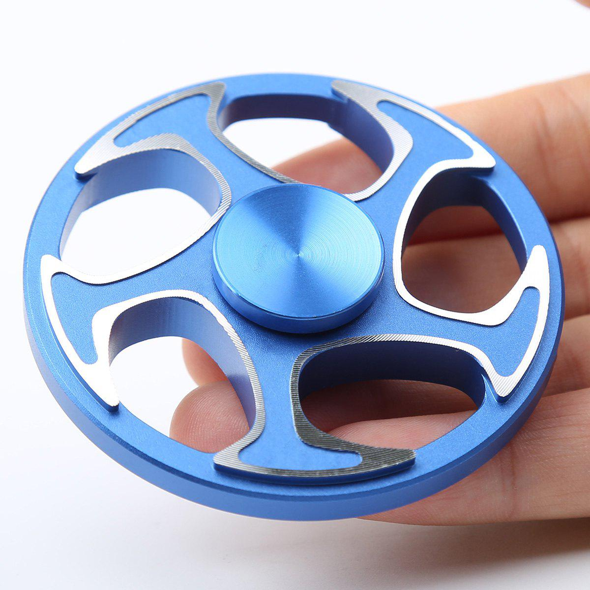 Wheel Aluminium Alloy Finger Gyro Hand Spinner - BLUE 6.3*6.3*1.5CM