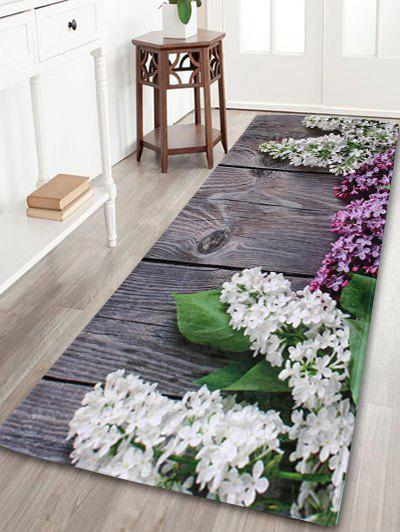 Coral Velvet Flowers Indoor Outdoor Area Rug - COLORMIX W16 INCH * L47 INCH