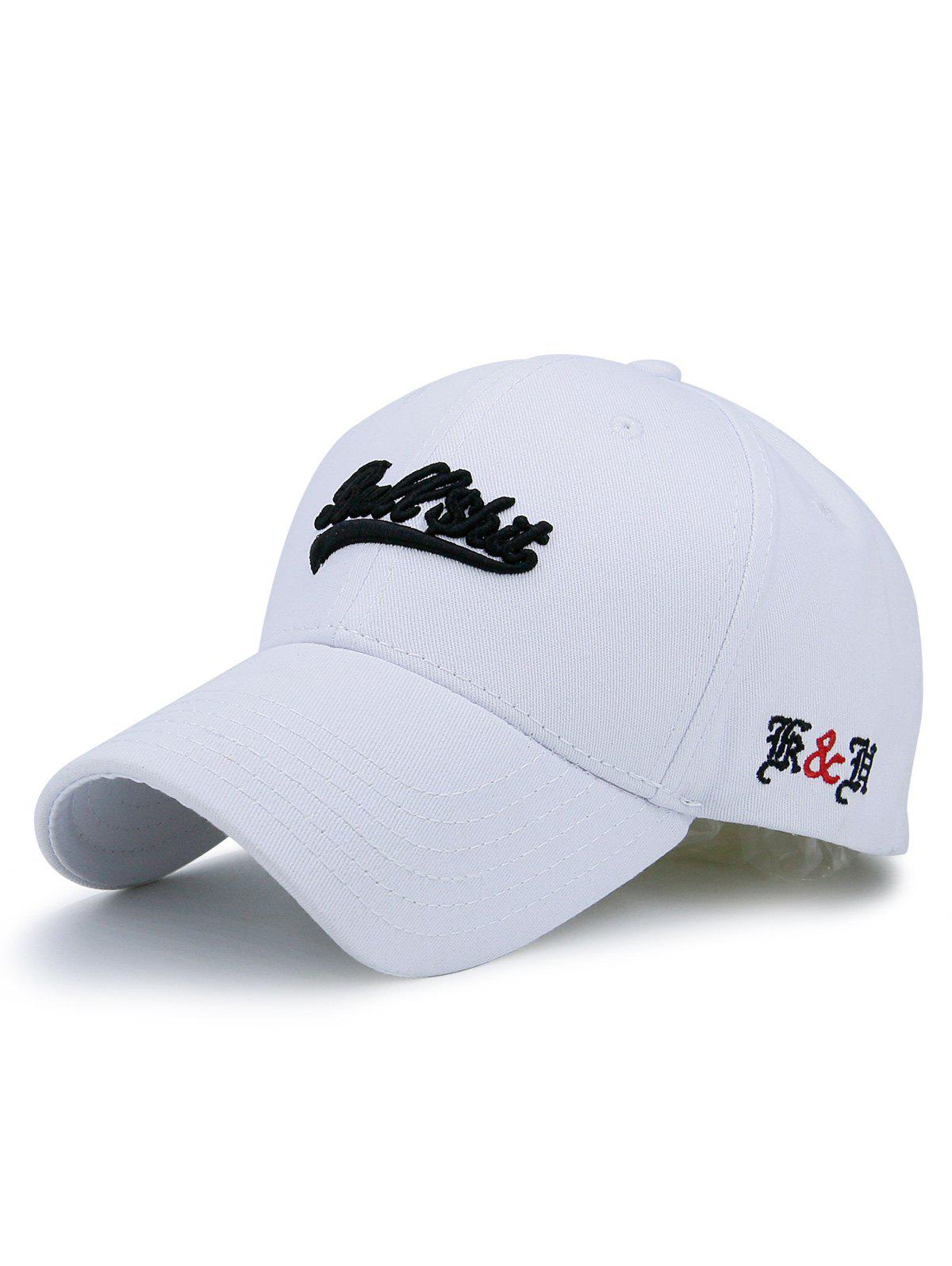 Baseball Cap with Letters Bullshit Embroidered - WHITE