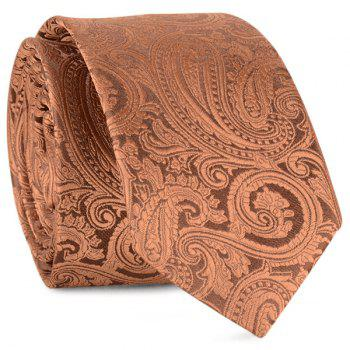 Paisley Anthemia Jacquard Neck Tie - COFFEE COFFEE