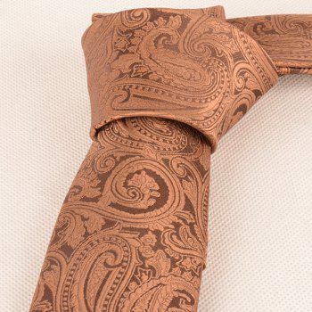Paisley Anthemia Jacquard Neck Tie -  COFFEE