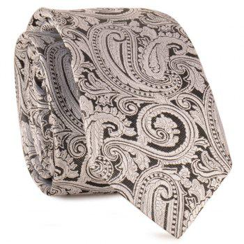 Paisley Anthemia Jacquard Neck Tie - LIGHT GRAY LIGHT GRAY