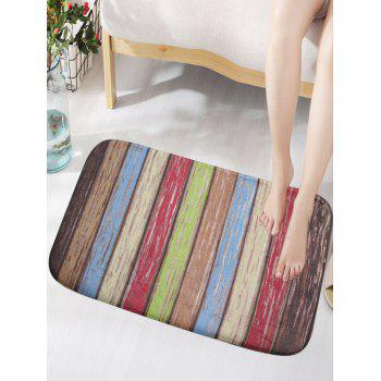 Flannel Skidproof Rainbow Wood Grain Vintage Door Mat