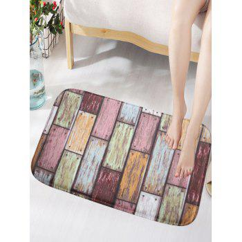 Wood Grain Print Flannel Skidproof Vintage Door Mat