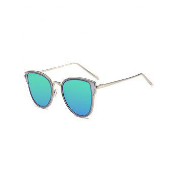 Metal Frame Butterfly Mirrored Sunglasses