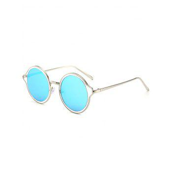 Metal Frame Vintage Round Mirrored Sunglasses
