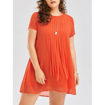 Plus Size Fringed Mini Dress