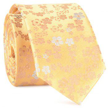 Jacquard Tiny Flowers Neck Tie