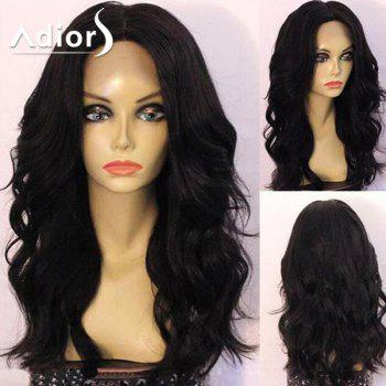 Adiors Center Part Shaggy Long Wavy Synthetic Wig