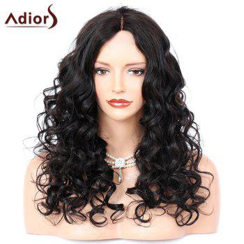 Adiors Middle Parting Shaggy Long Curly Synthetic Wig