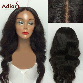 Adiors Middle Part Shaggy Long Wavy Synthetic Wig