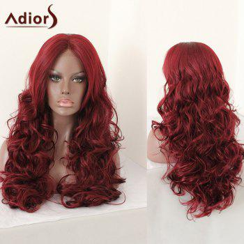 Adiors Middle Part Layered Shaggy Long Curly Synthetic Wig