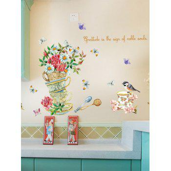 Bird Butterfly Floral Quote Wall Sticker