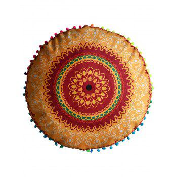 Mandala Decorative Round Pouf Pillow Case