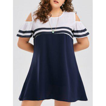 Cold Shoulder Plus Size Short Dress