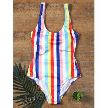 Colorful Rainbow Striped Swimwear