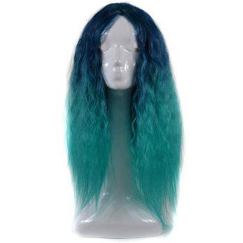 Lolita Middle Part Shaggy Long Curly Corn Hot Ombre Synthetic Wig