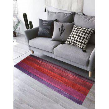 Colorful Wood Grain Water Absorption Flannel Bathroom Rug