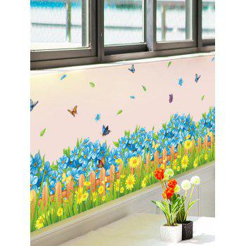 Flower Decorative Skirting Line Wall Sticker
