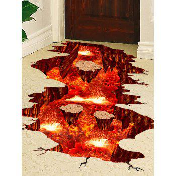 3D Visual Volcano Floor Vinyl Wall Sticker