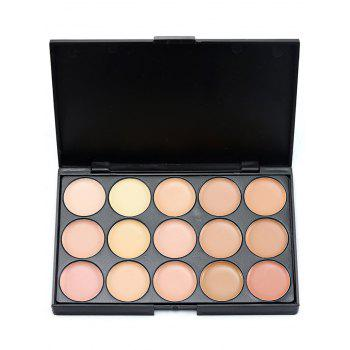 15 Colours Concealer Palette with Random Color Powder Puff -