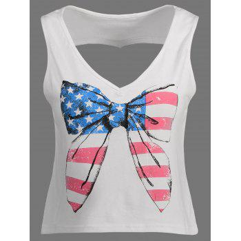 American Flag Cut Out Tank Top