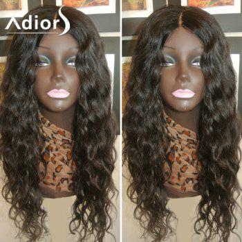 Adiors Dyed Perm Center Parting Long Curly Lace Front Synthetic Wig