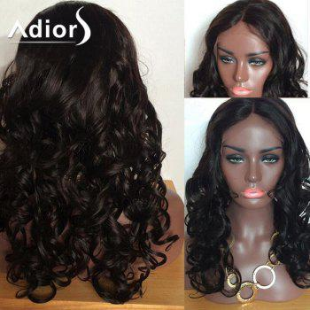Adiors Long Shaggy Body Wave Center Part Lace Front Synthetic Wig
