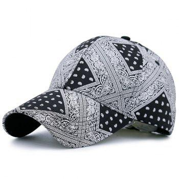 Geometrical Anthemia Printing Baseball Hat