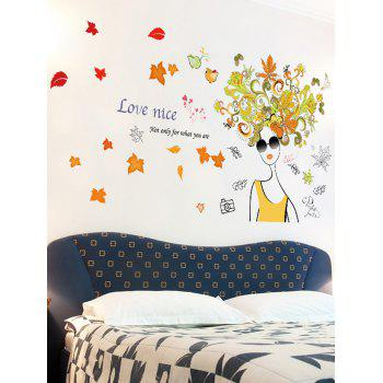 Floral Fairy Removable Bedroom Wall Art Sticker