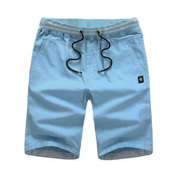 Label Design Lace Up Casual Shorts