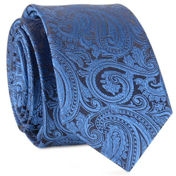 Paisley Anthemia Jacquard Neck Tie - ROYAL