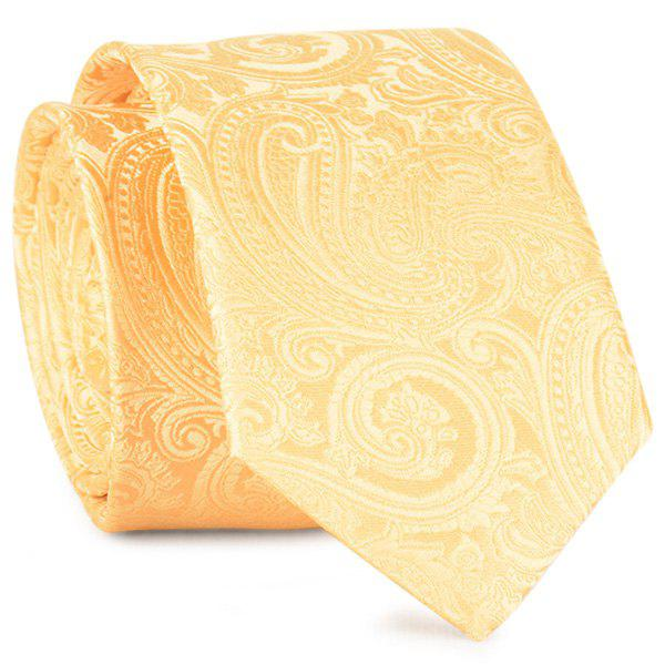 Paisley Anthemia Jacquard Neck Tie - YELLOW