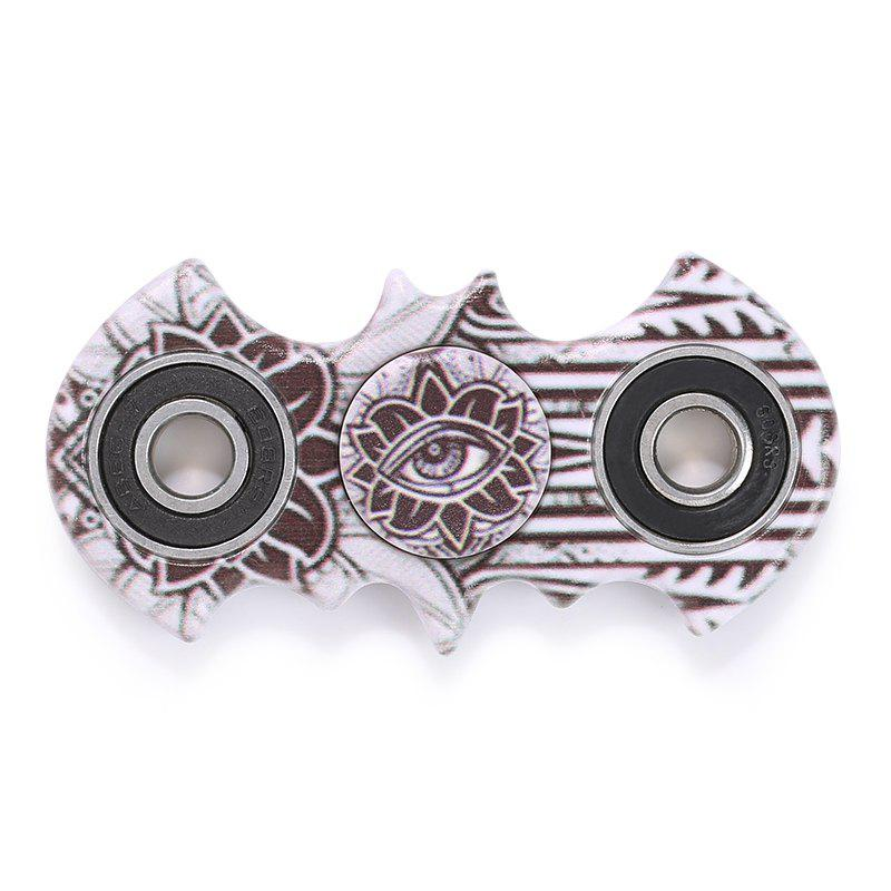Plastic Mandala Patterned Bat Fidget Spinner - BROWN