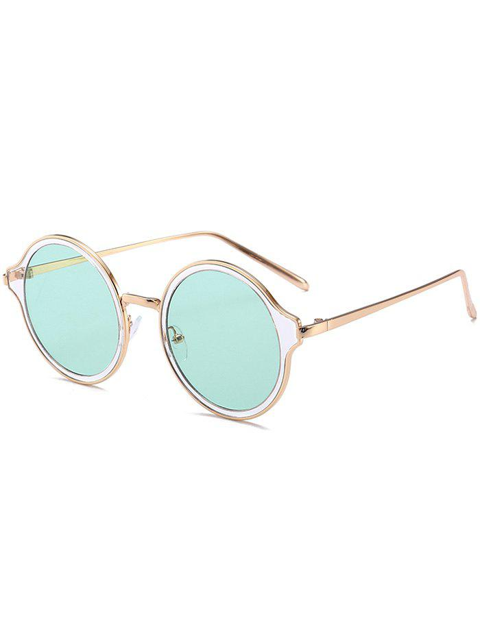 Vintage Metal Frame Round Sunglasses vintage round frame english letters cute sunglasses fashion and personality cross my heart