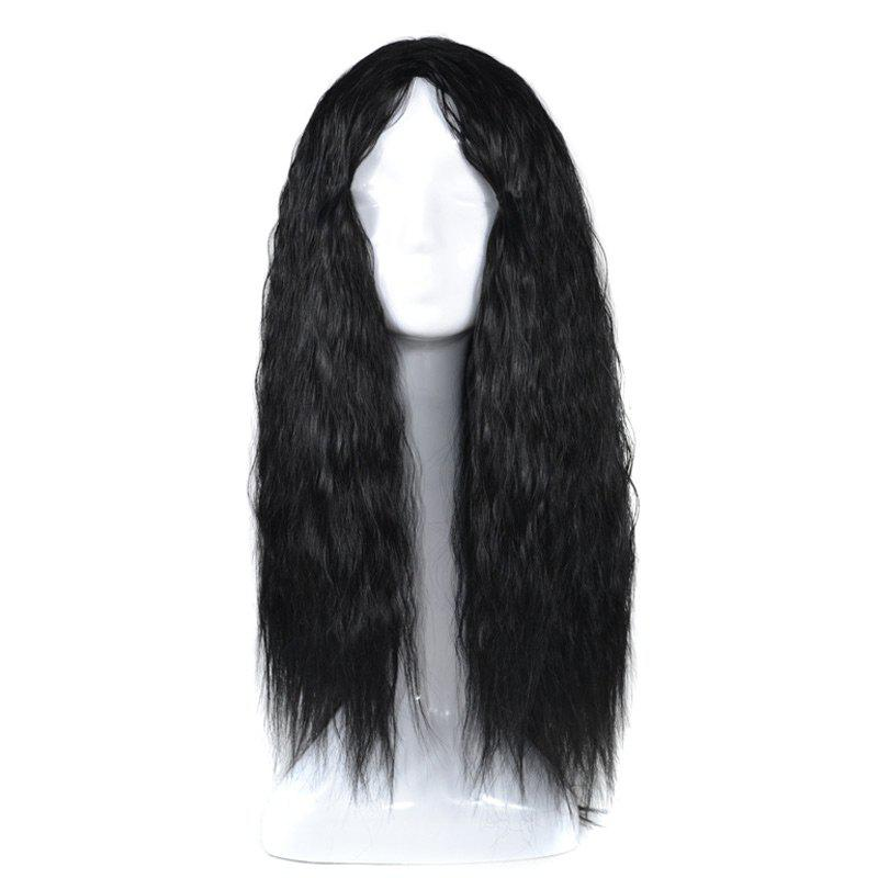 Lolita Long Center Part Corn Hot Curly Cosplay Synthetic Wig shipping hot new black white long curly cosplay full wig two pigtails