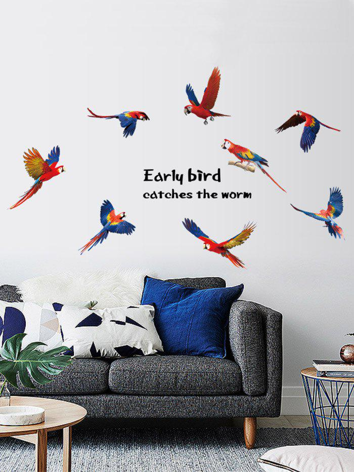 Inspirational Quote Parrots Vinyl Wall Sticker family wall quote removable wall stickers home decal art mural