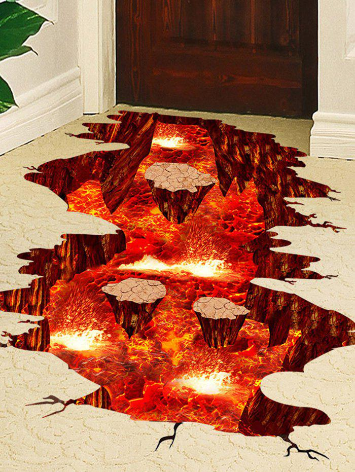 3D Visual Volcano Floor Vinyl Wall Sticker italian visual phrase book