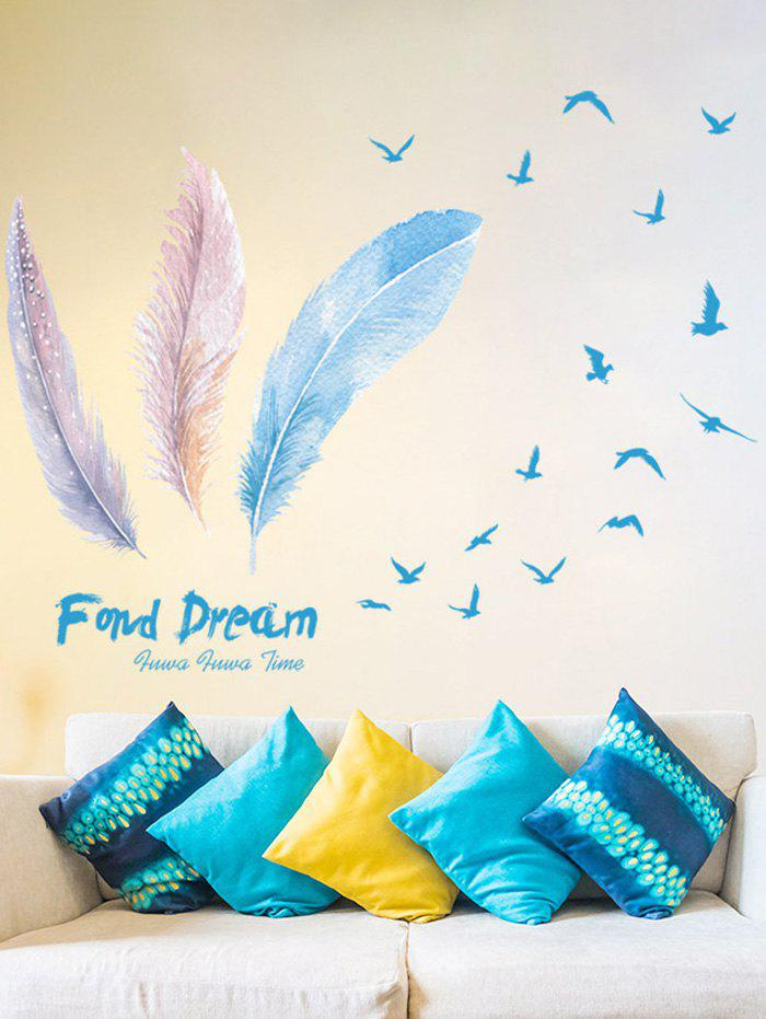 Feather Decorative Bedroom Vinyl Wall Sticker lily flower vinyl decorative wall art sticker