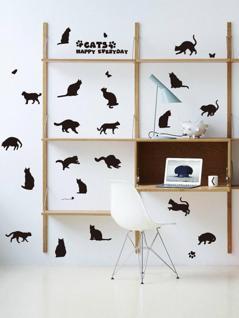 Kitty Animal Removable Wall Sticker Home Decoration quote wall sticker i love you for home decoration waterproof removable decals