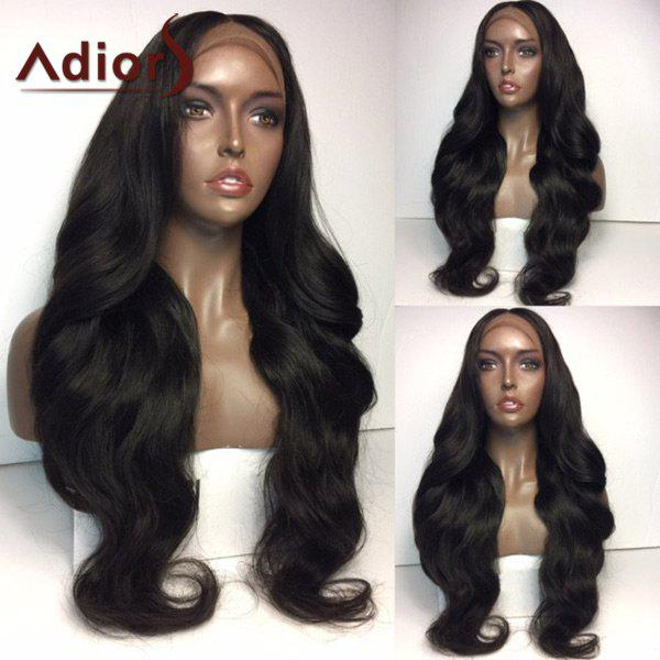 Adiors Middle Part Thick Long Natural Wavy Lace Front Synthetic Wig n7 1 fashion long body wavy texture jet black color synthetic lace front wig natural looking wigs