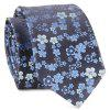 Jacquard Tiny Flowers Neck Tie - BLUE