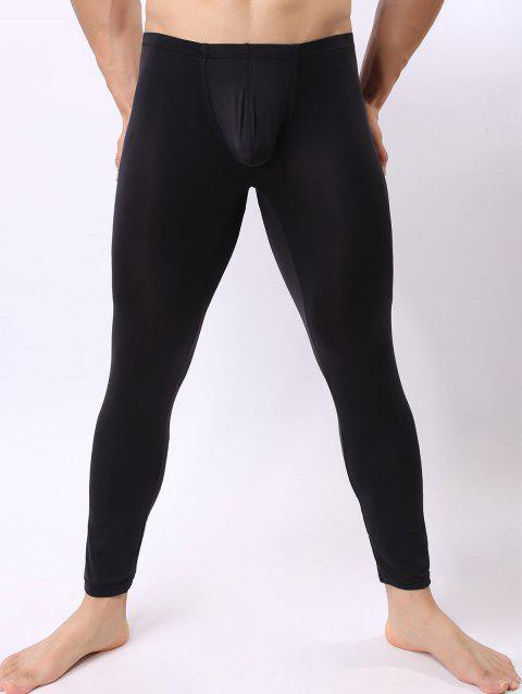High Stretch U Convex Pouch Long Johns - BLACK S