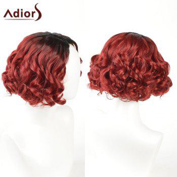 Adiors Shaggy Layered Short Side Part Curly Ombre Synthetic Wig