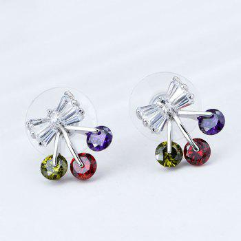 Rhinestone Bow Shape Tiny Stud Earrings