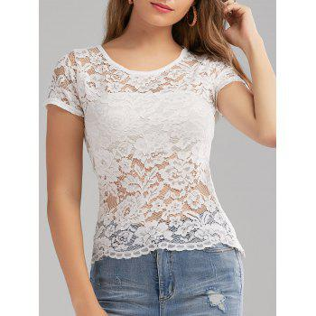 Zippered See Through Lace Top